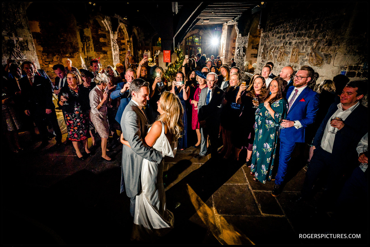 The Crypt at Ely Place wedding first dance