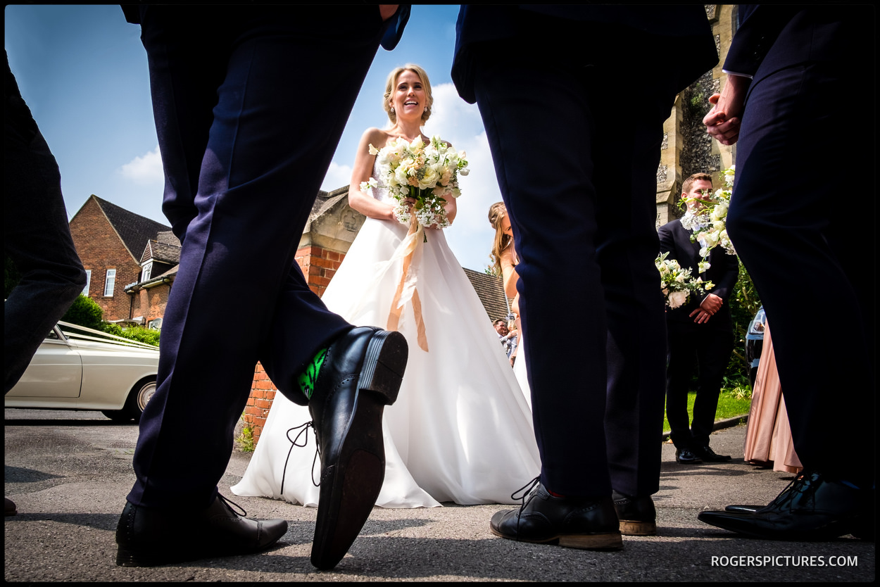 Spring wedding ceremony in Surrey