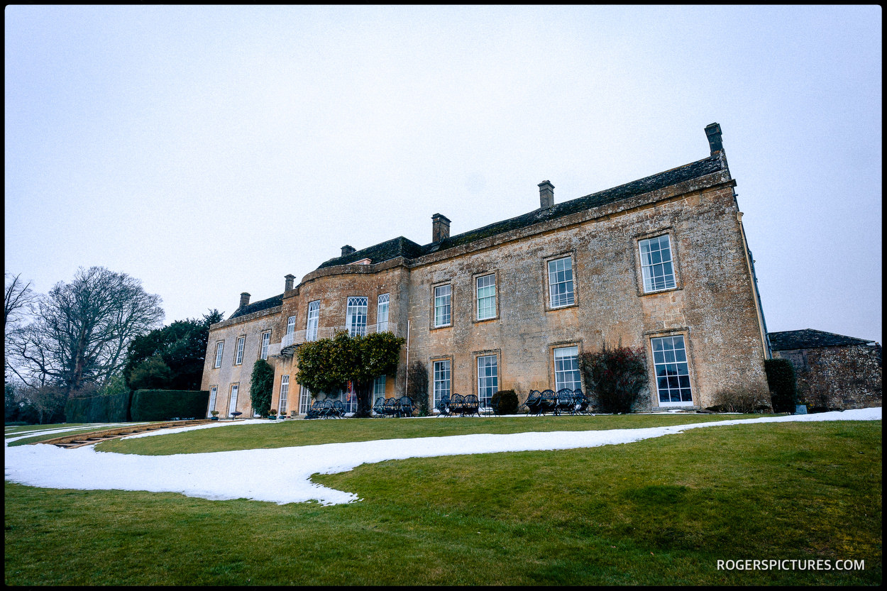 Snowy North Cadbury Court winter wedding
