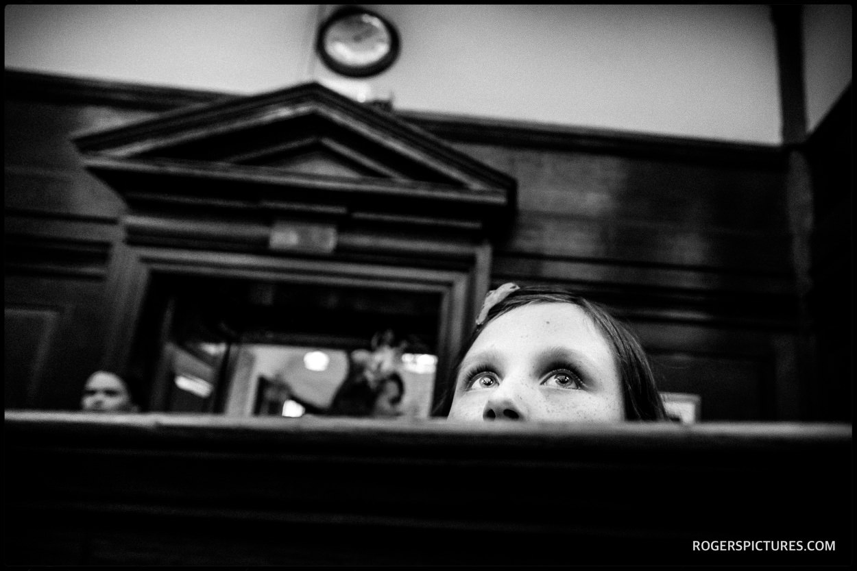 Wedding guest at Camden Town Hall