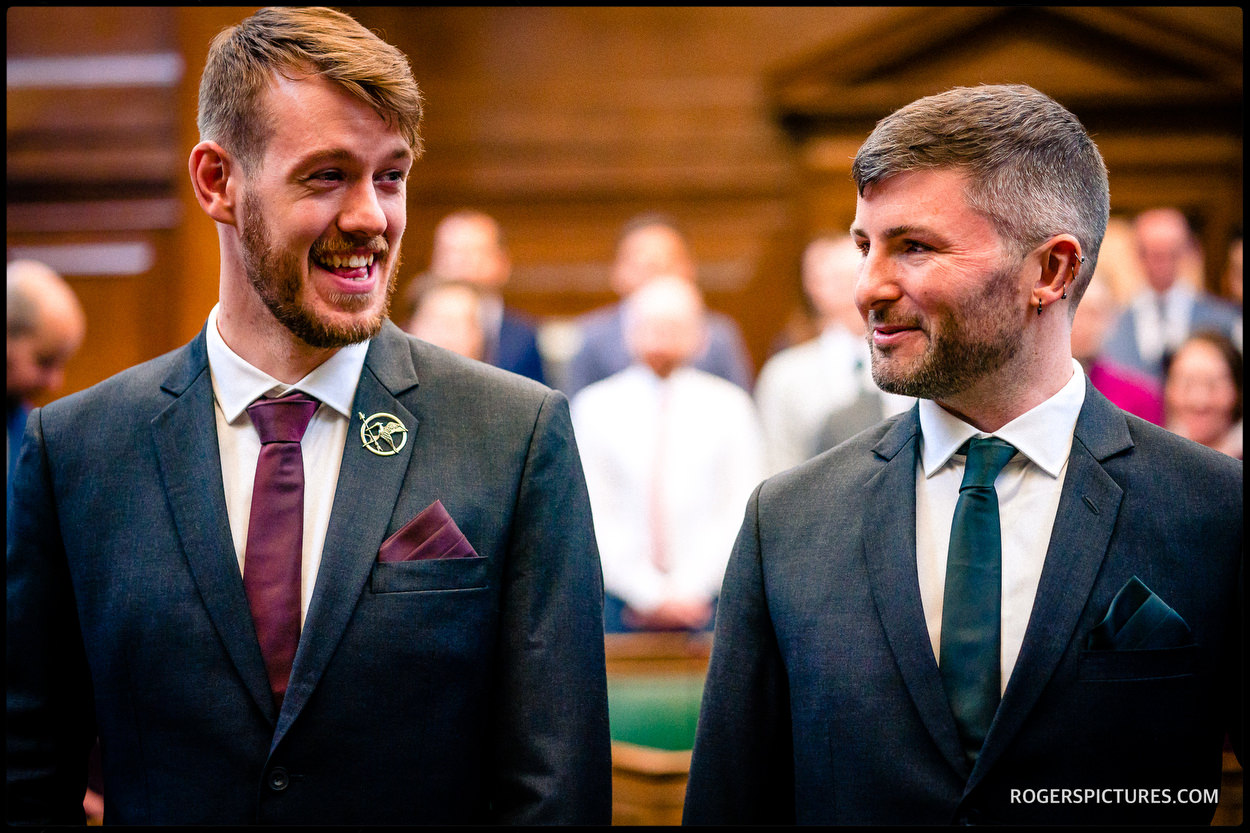 Same sex wedding at Camden Town Hall