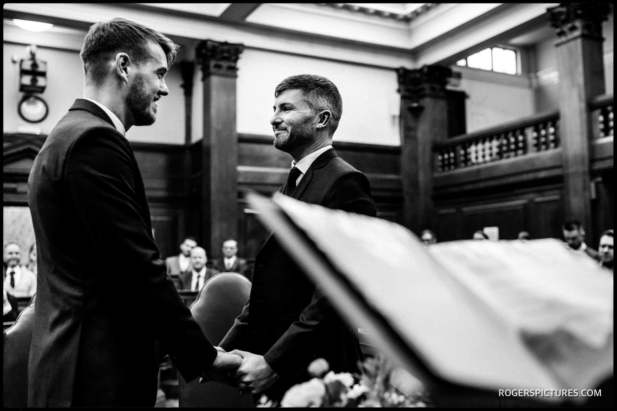 Grooms getting married in London
