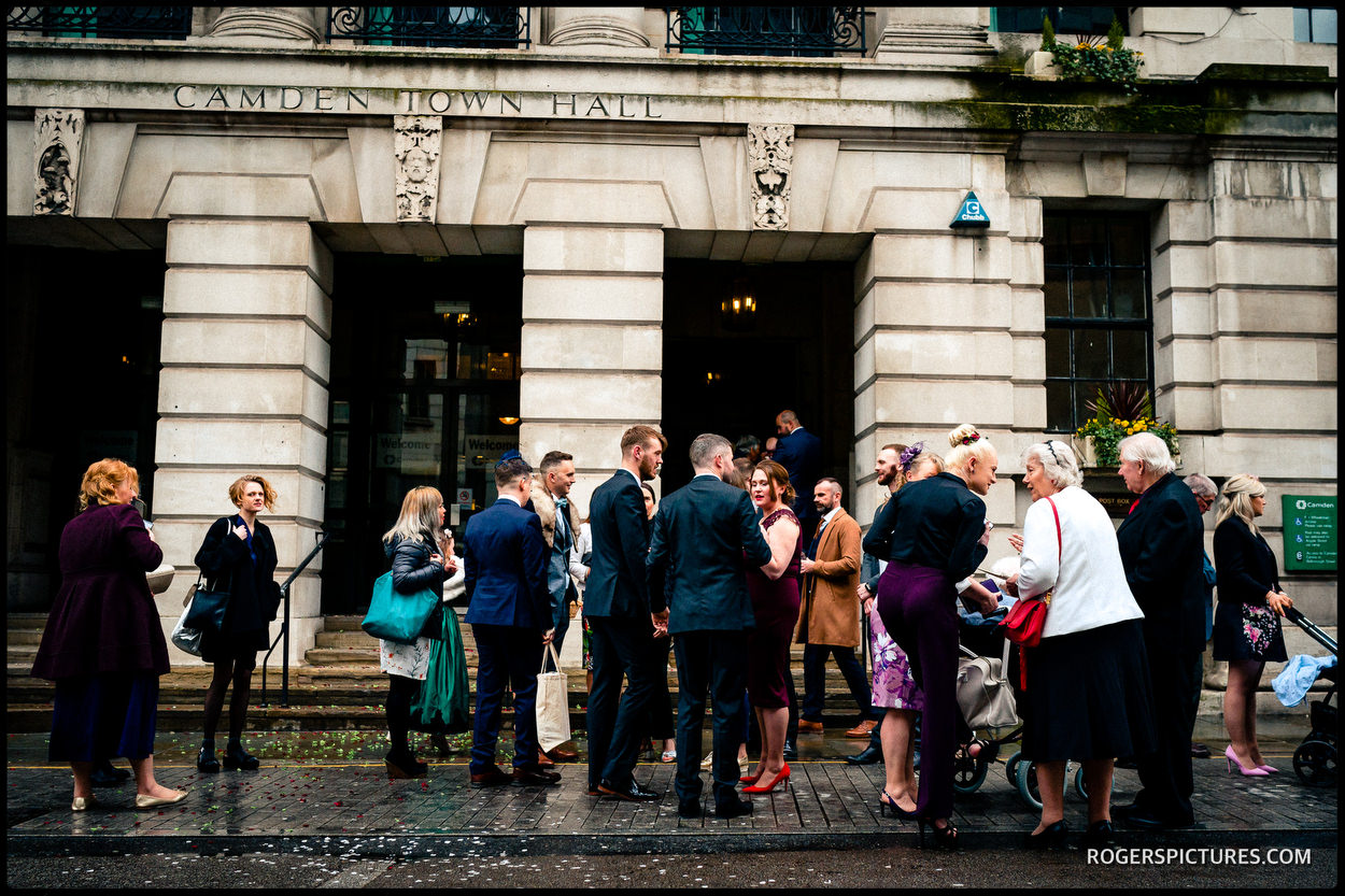 London Town Hal wedding