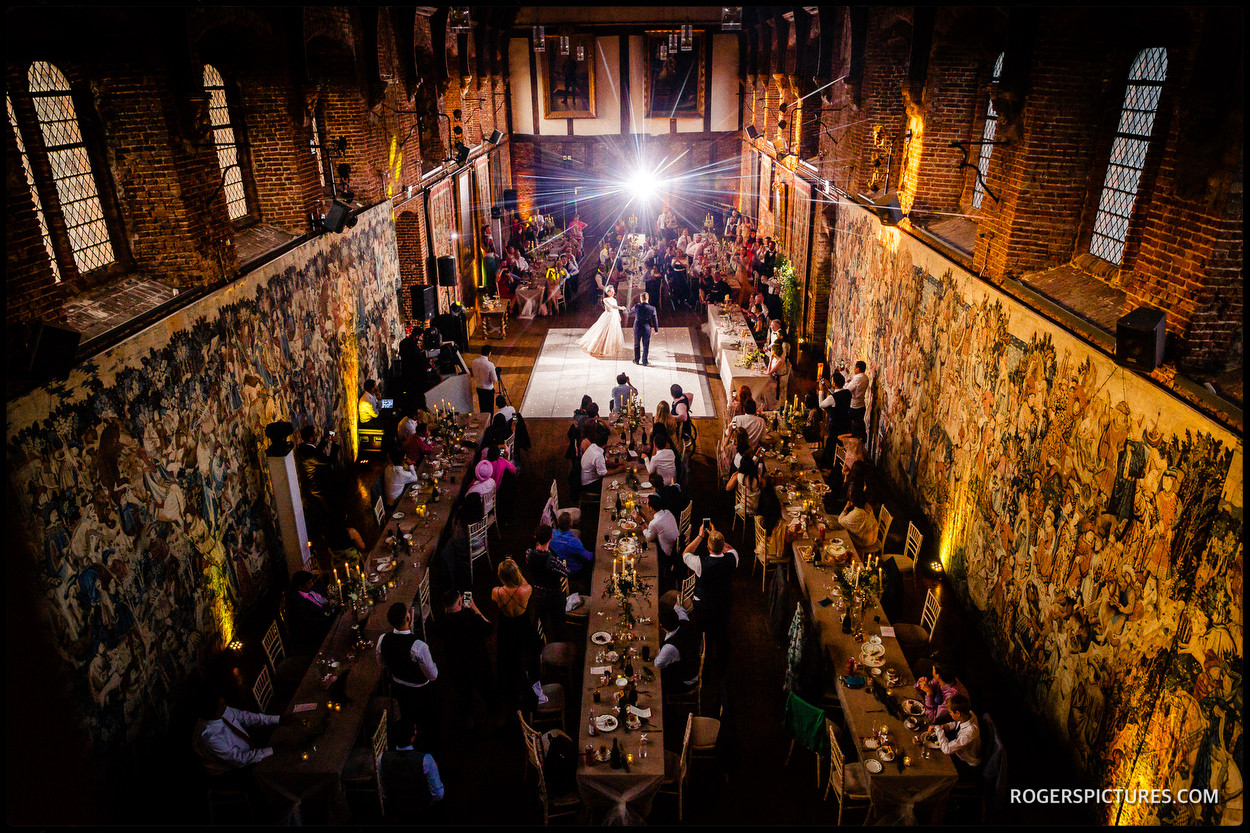 First dance in the Old Palace at Hatfield House