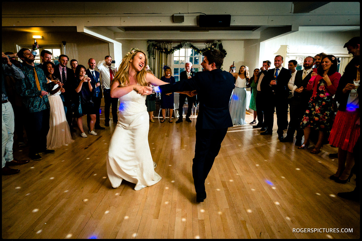 First dance at Thorpness Country Club wedding