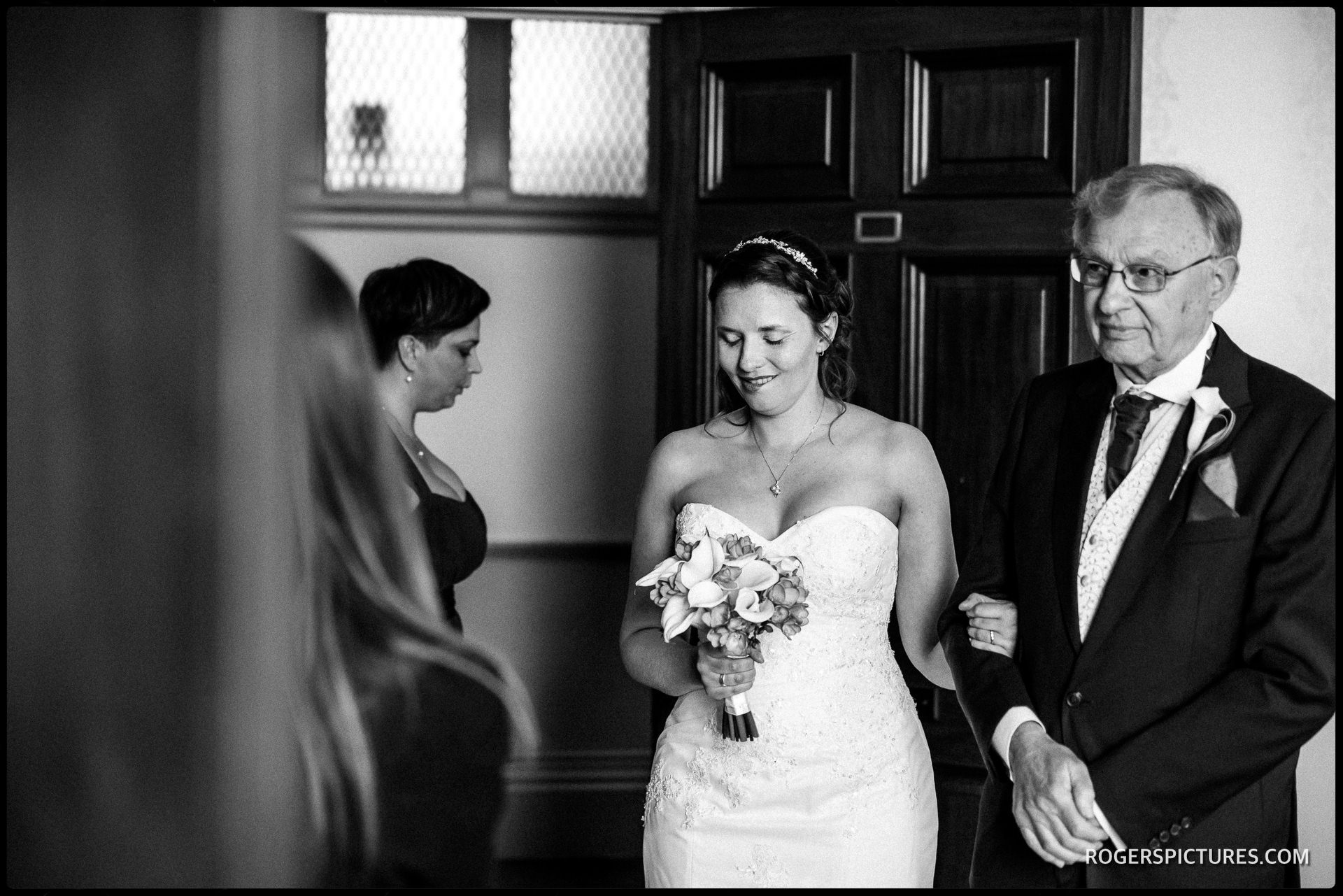 Nervous looking Bride