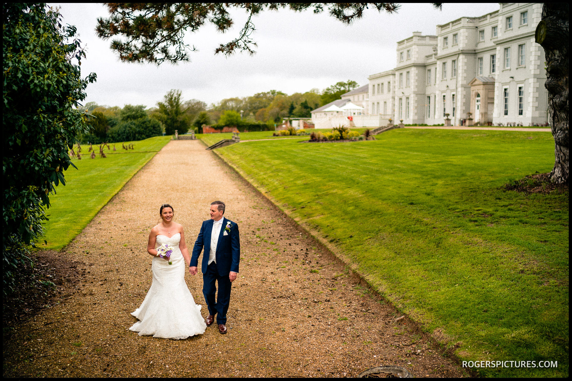 Wedding portraits at Wokefield Park hotel in Berkshire