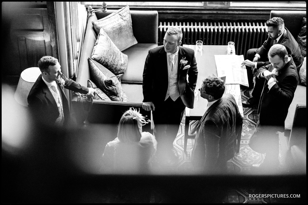 Groomsmen at Handpicked Hotel's Nutfield Priory Hotel in Surrey