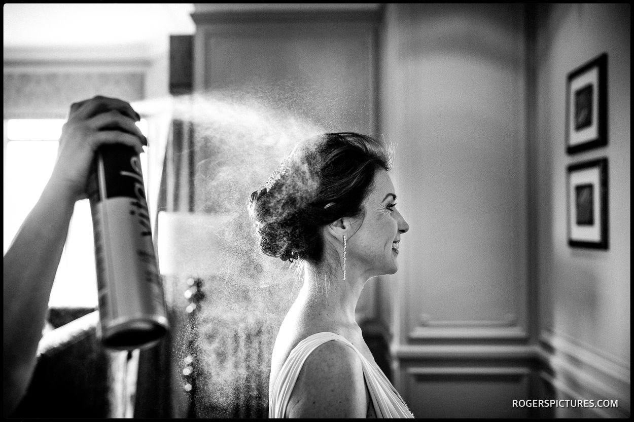 Documentary wedding photography at Surrey's Nutfield Priory Hotel