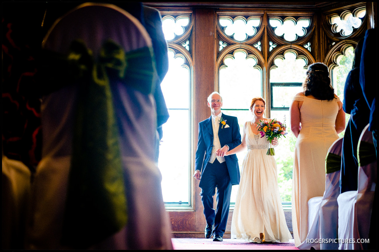 Couple married at Nutfield Priory Hotel