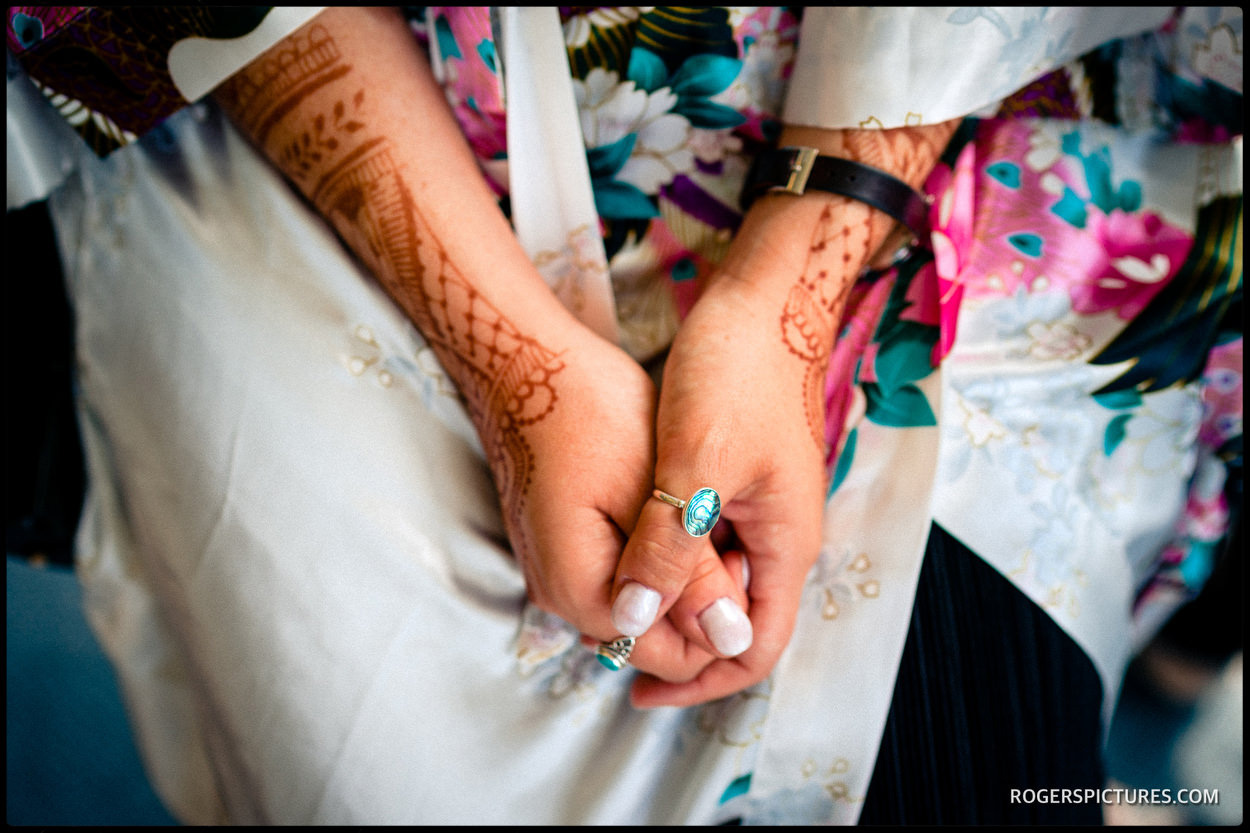 Brides henna at De Vere Horwood Estate Hotel