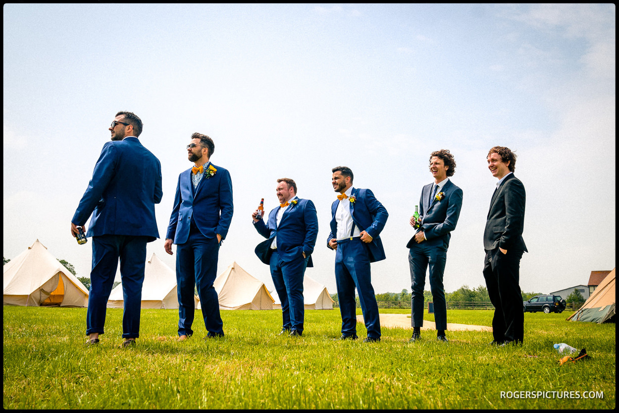 Groomsmen at Oak Tree Farm Bicester