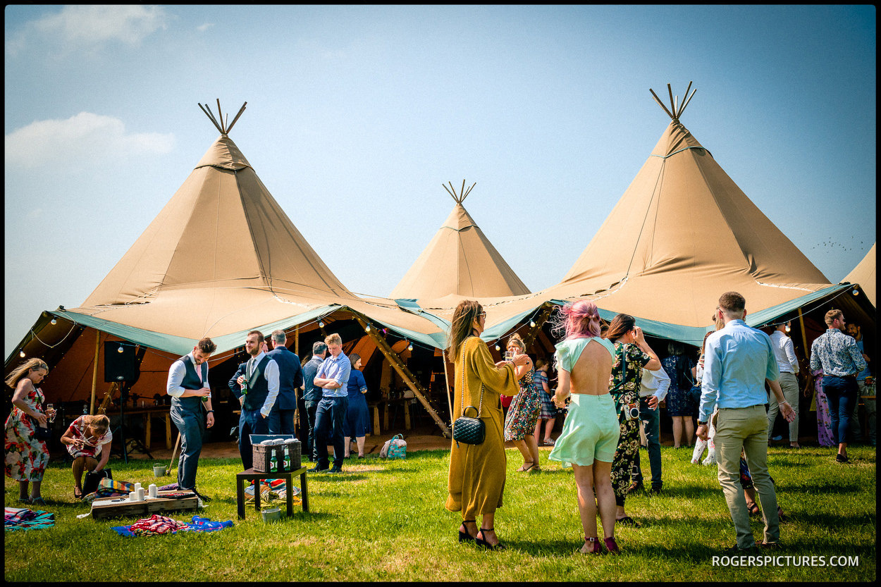 Tipi wedding tent at Oak Tree Farm Bicester
