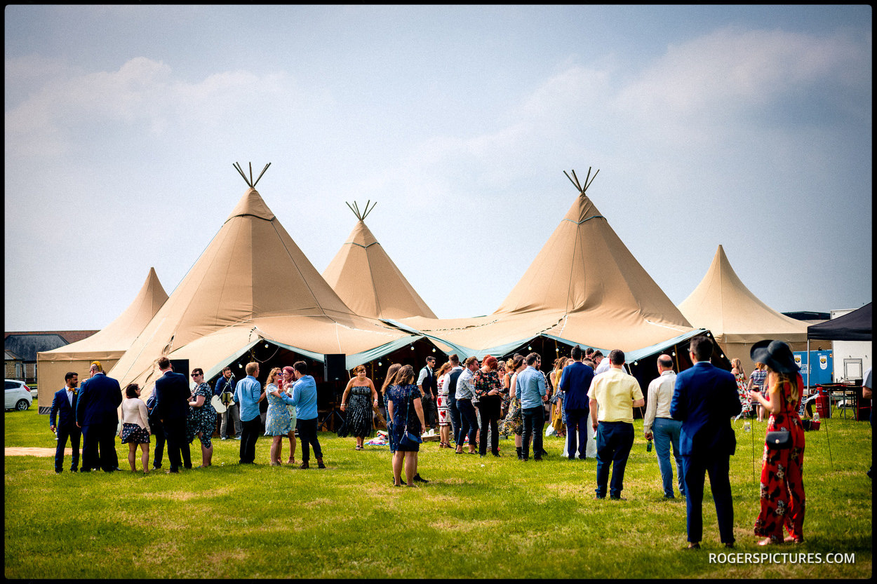 Tipi wedding reception in Buckinghamshire