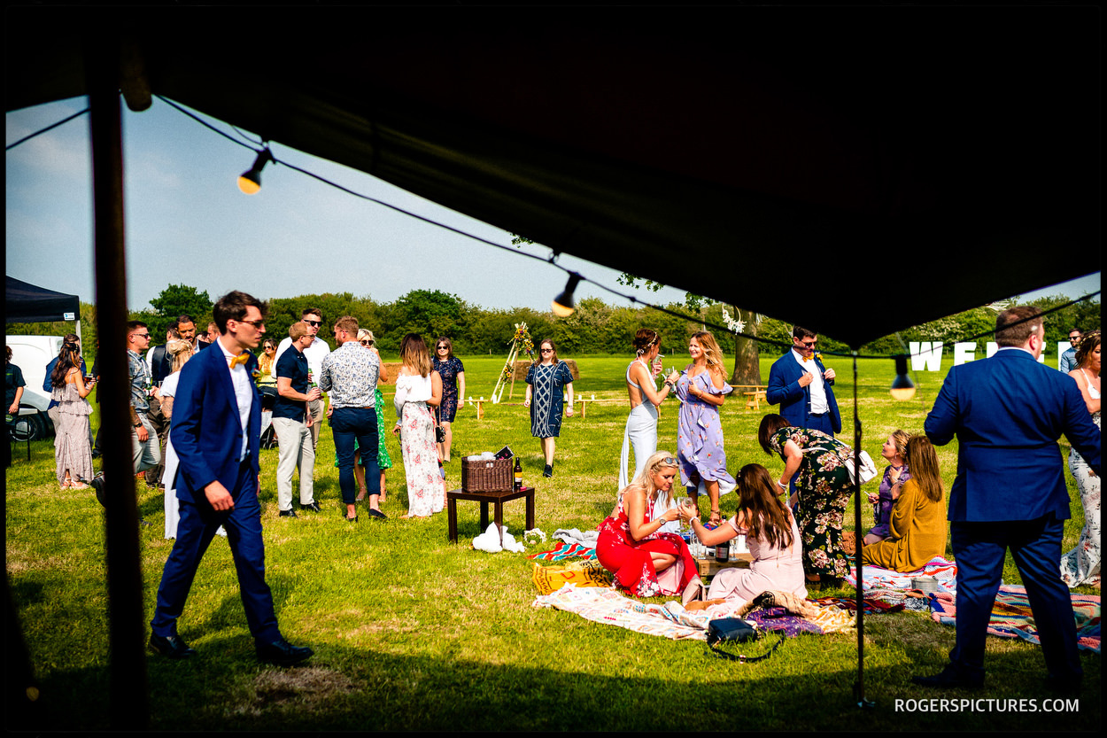 Tipi wedding in Buckinghamshire