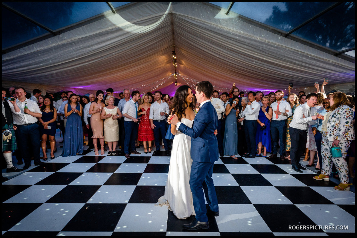 First dance at a Jewish wedding in Oxfordshire