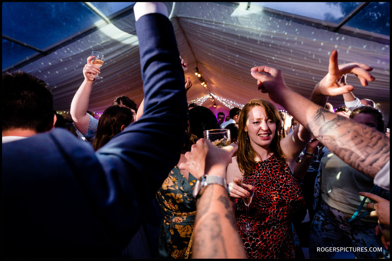 Party guests on the dance floor