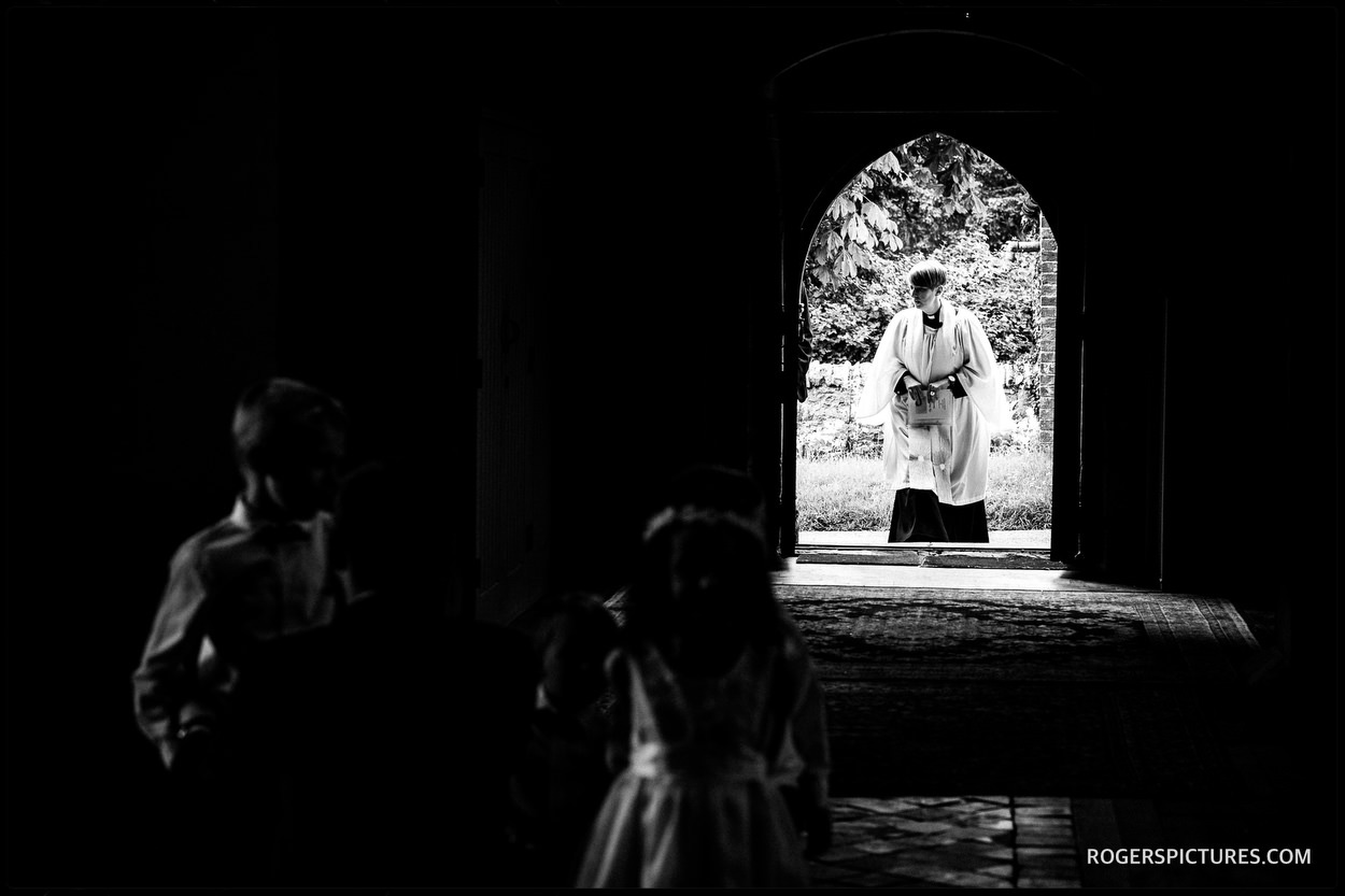 Church wedding ceremony in Waddesdon