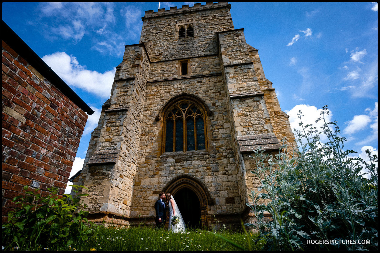 Church wedding in Waddesdon in Buckinghamshire