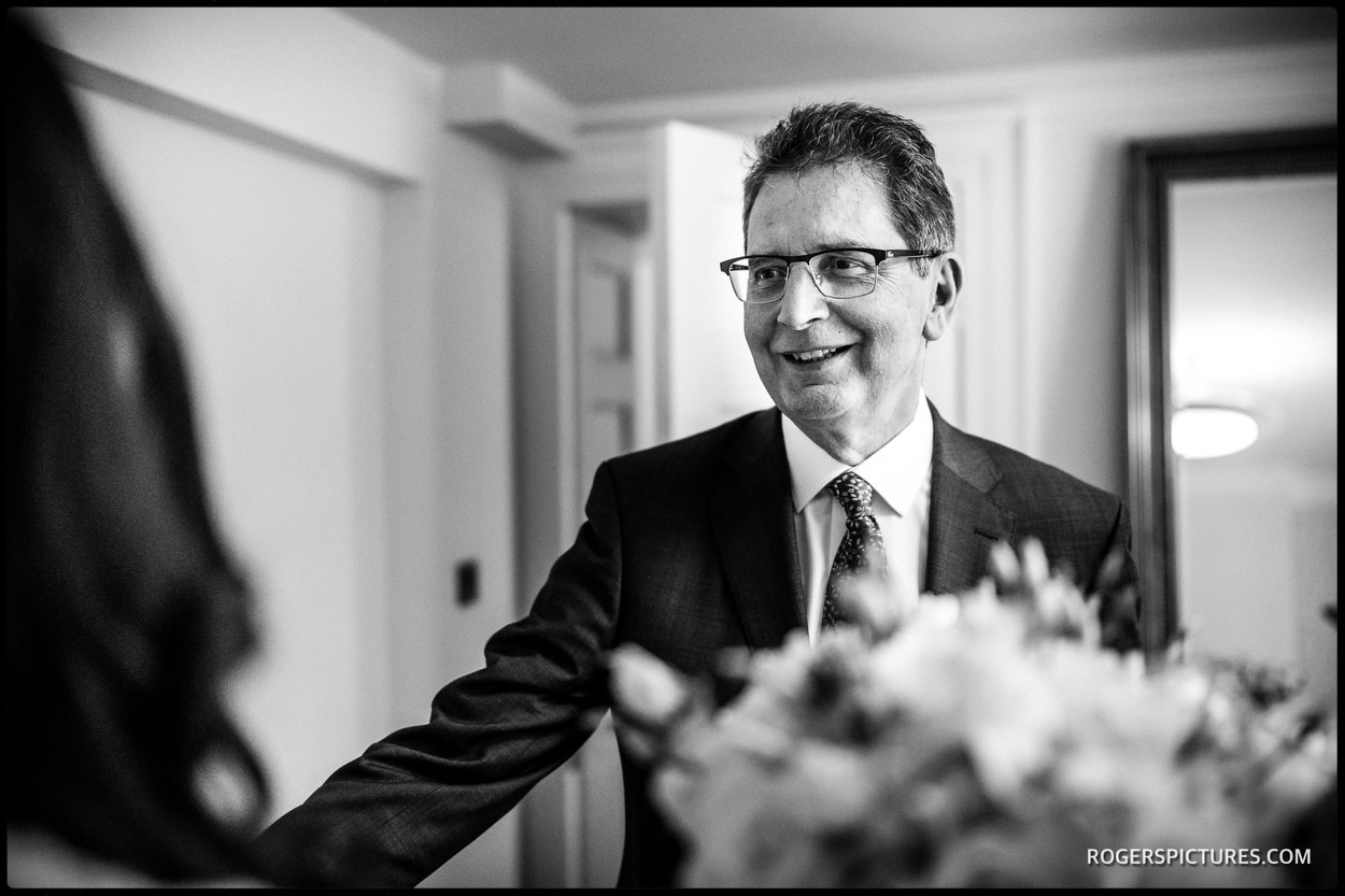 Father of the Bride at Fulham Palace wedding