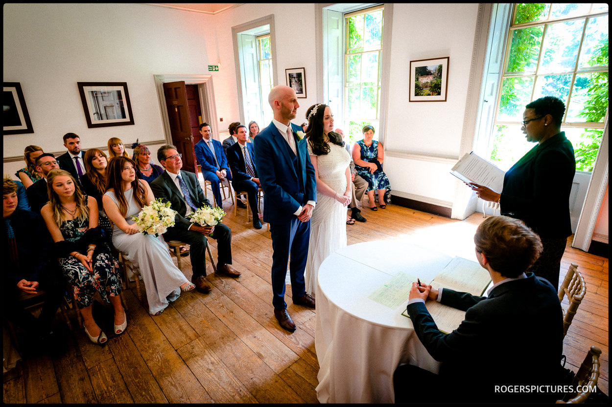 Registrar wedding ceremony at Fulham Palace