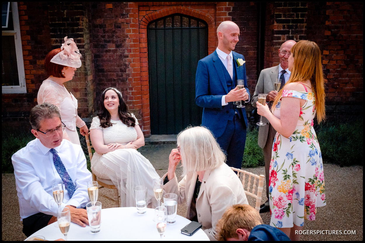 Wedding photojournalism at Fulham Palace in London