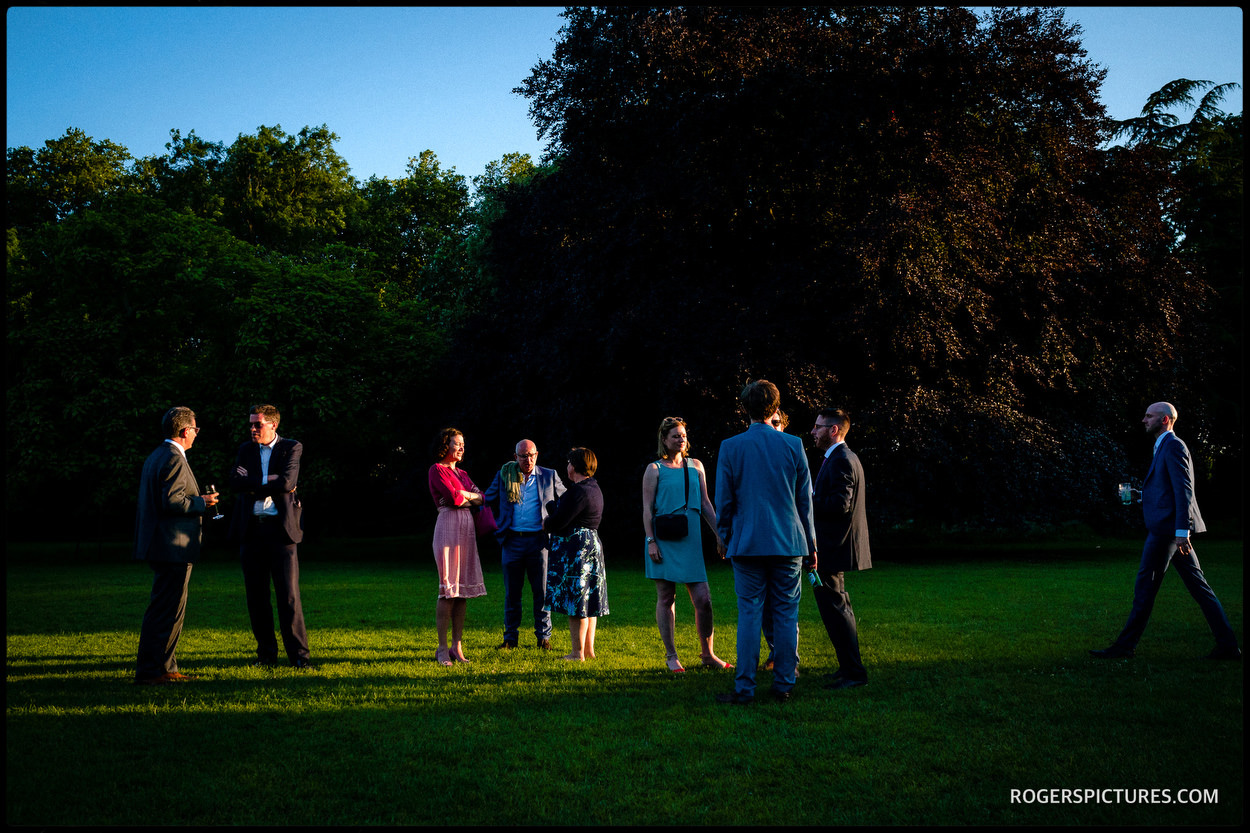 Wedding photography in the gardens at Fulham Palace