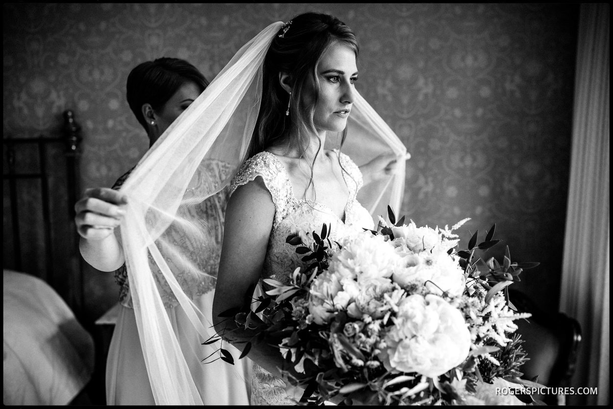Bride at Boughton Monchelsea Place