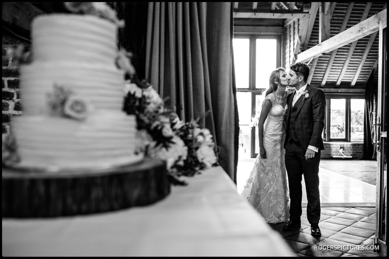 Leeds Castle wedding bride and groom announced into wedding breakfast