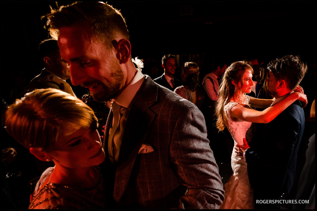 Couple on the dance floor at Fairfax Barn