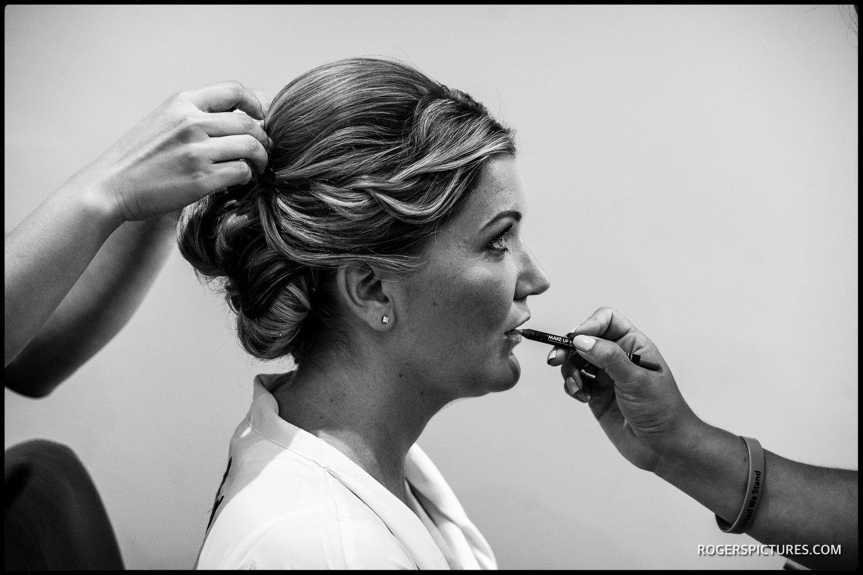 Bride getting ready in South London