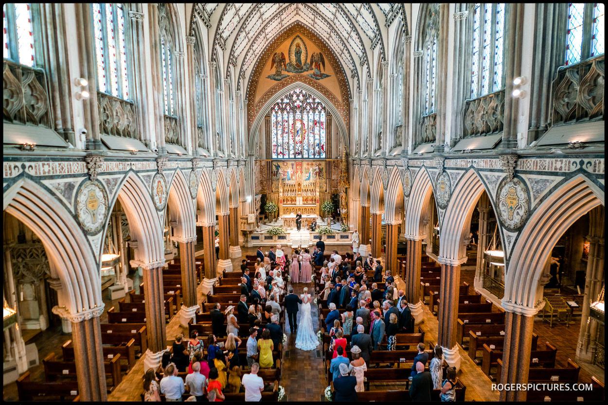 Farm Street church wedding ceremony