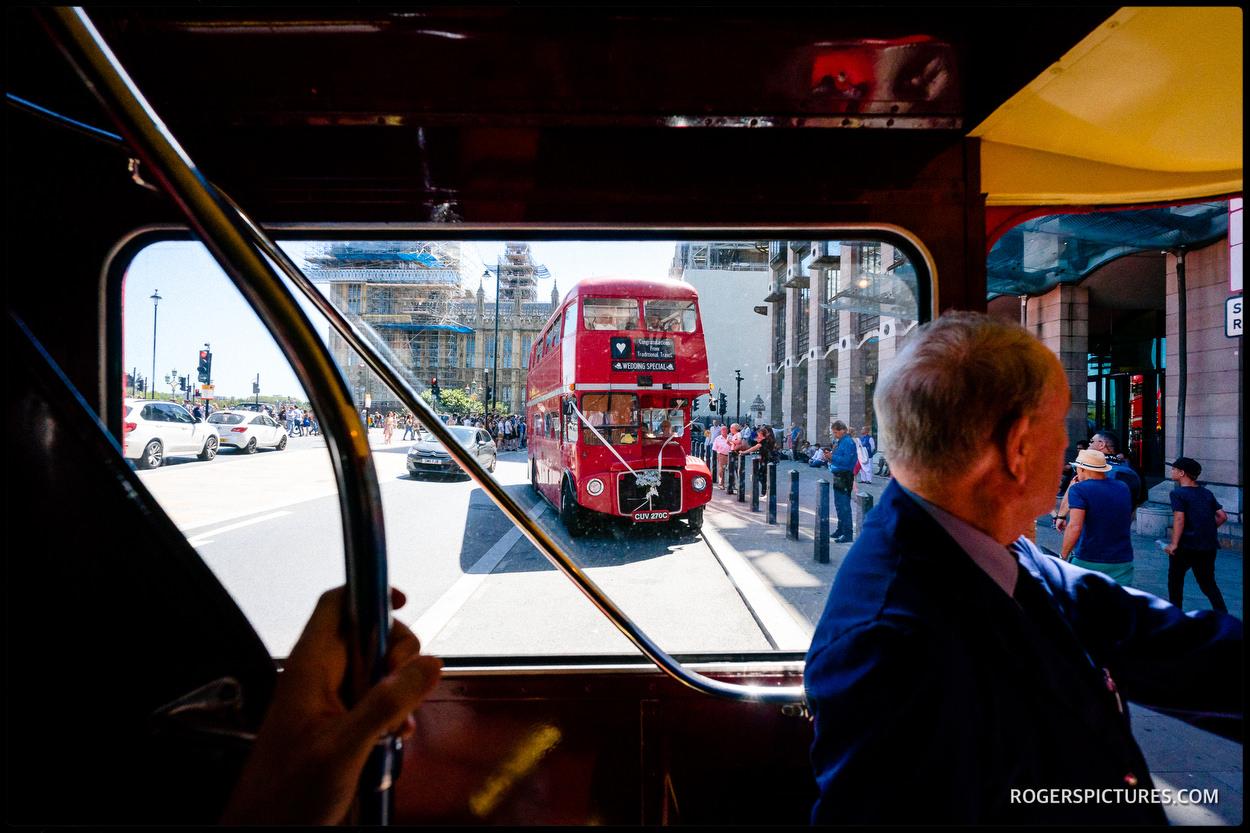 Wedding bus in London