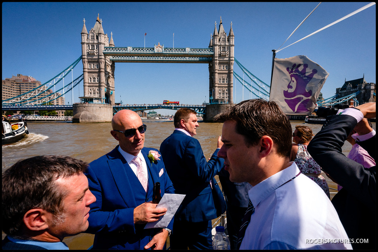 Tower Bridge from the wedding boat