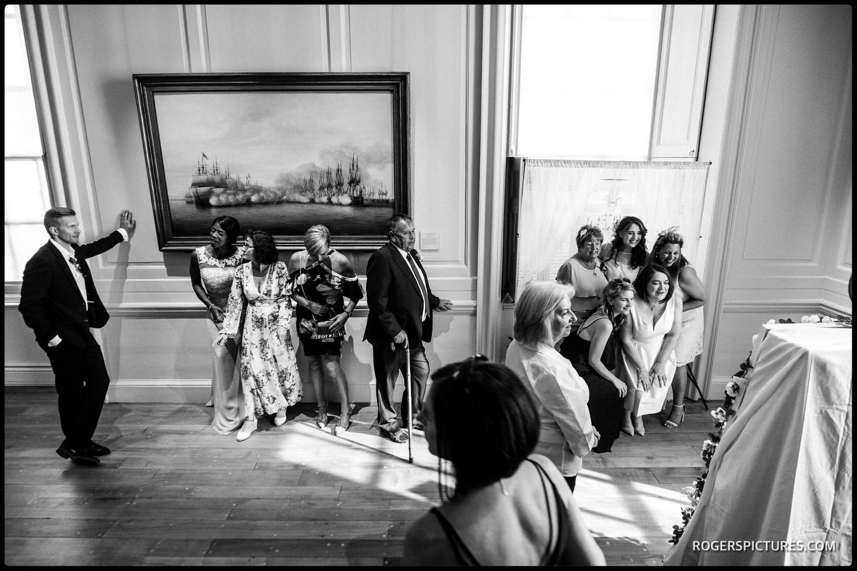 Documentary wedding photography at the Queen's House in Greenwich