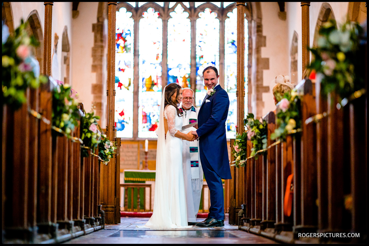 Married at church in Ticehurst East Sussex