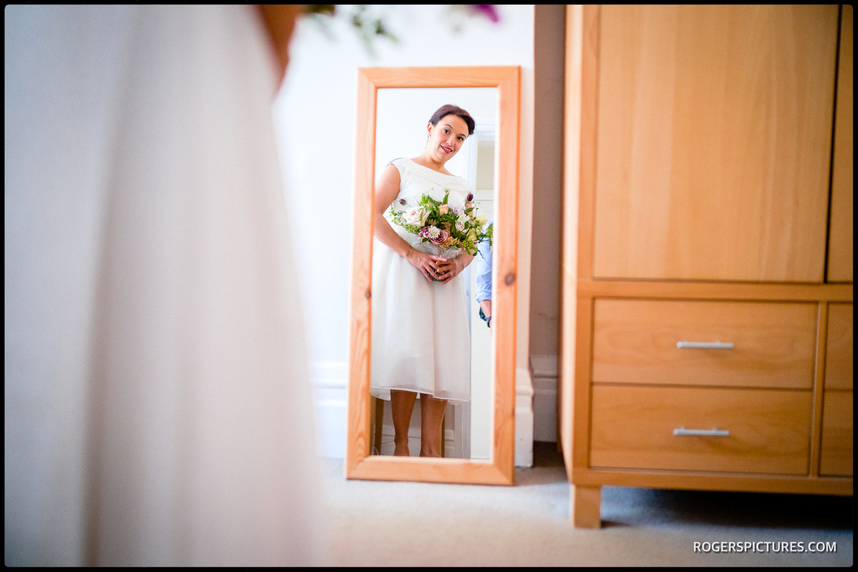 Bride ready for a North London wedding ceremony
