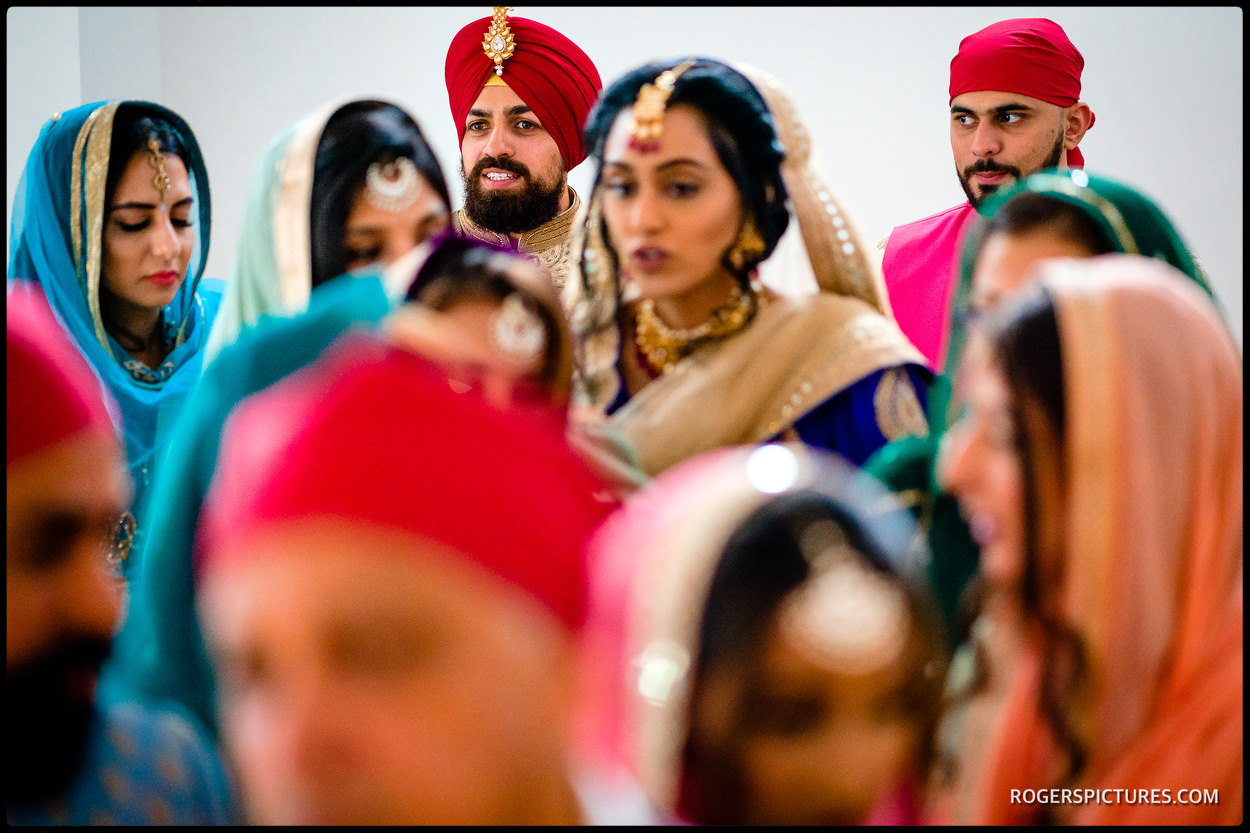 Sikh wedding ceremony groom