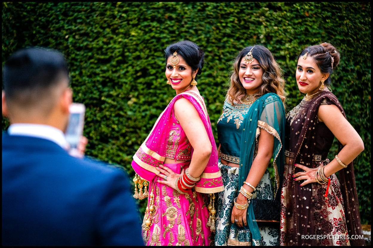 Indian wedding guests at Micklefield Hall