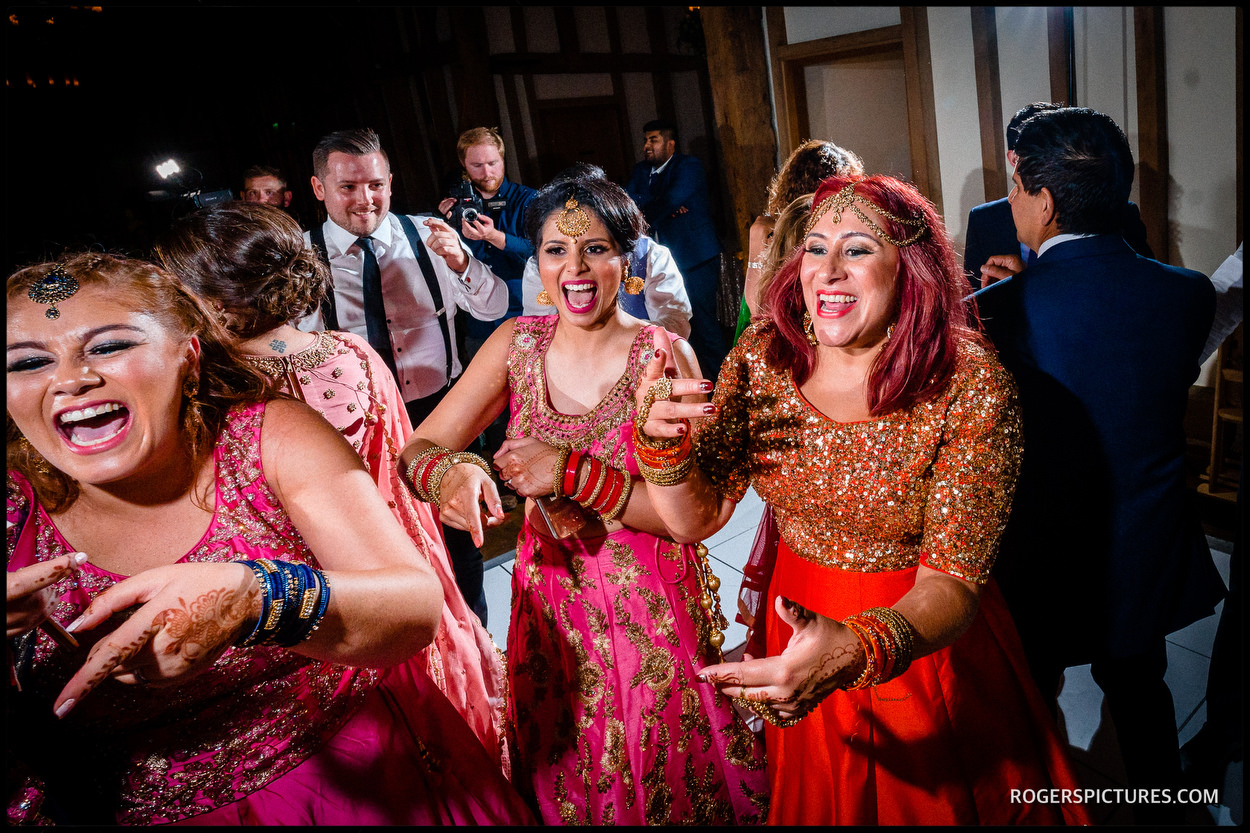Micklefield Hall wedding party