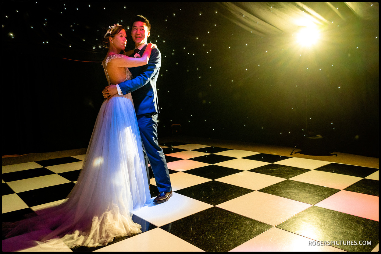 Couple first dance at the Old Hall Ely