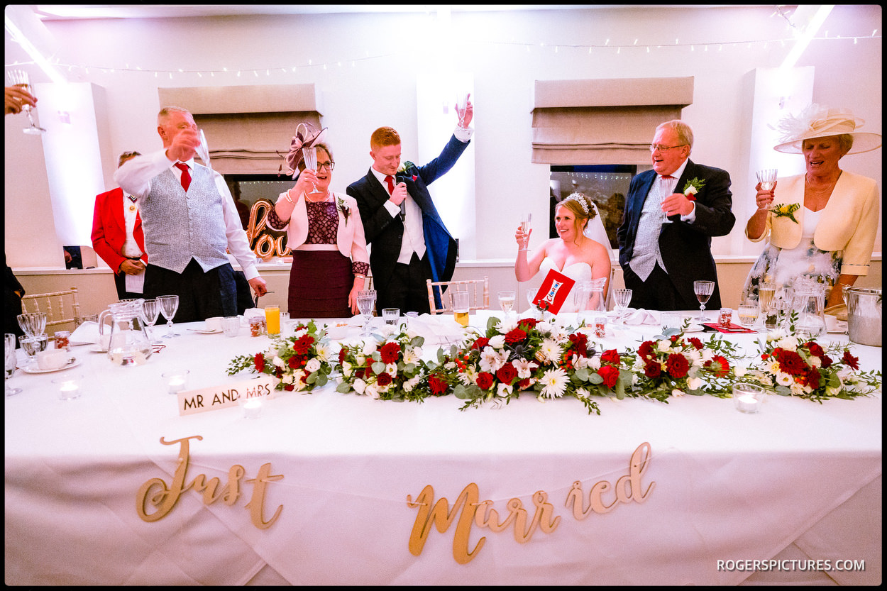 Wedding breakfast speeches at Stoke Place Hotel in Buckinghamshire