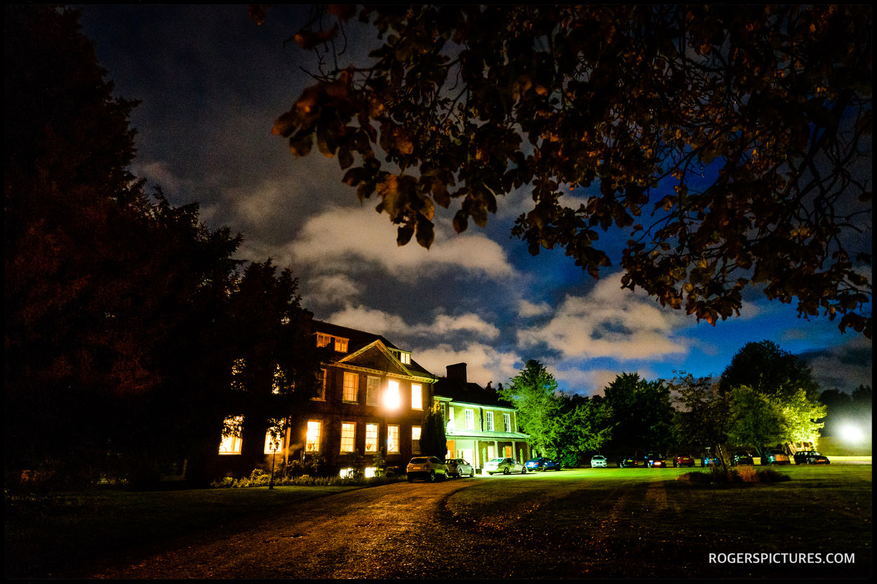 Wedding venue Stoke Place Hotel in Buckinghamshire at night