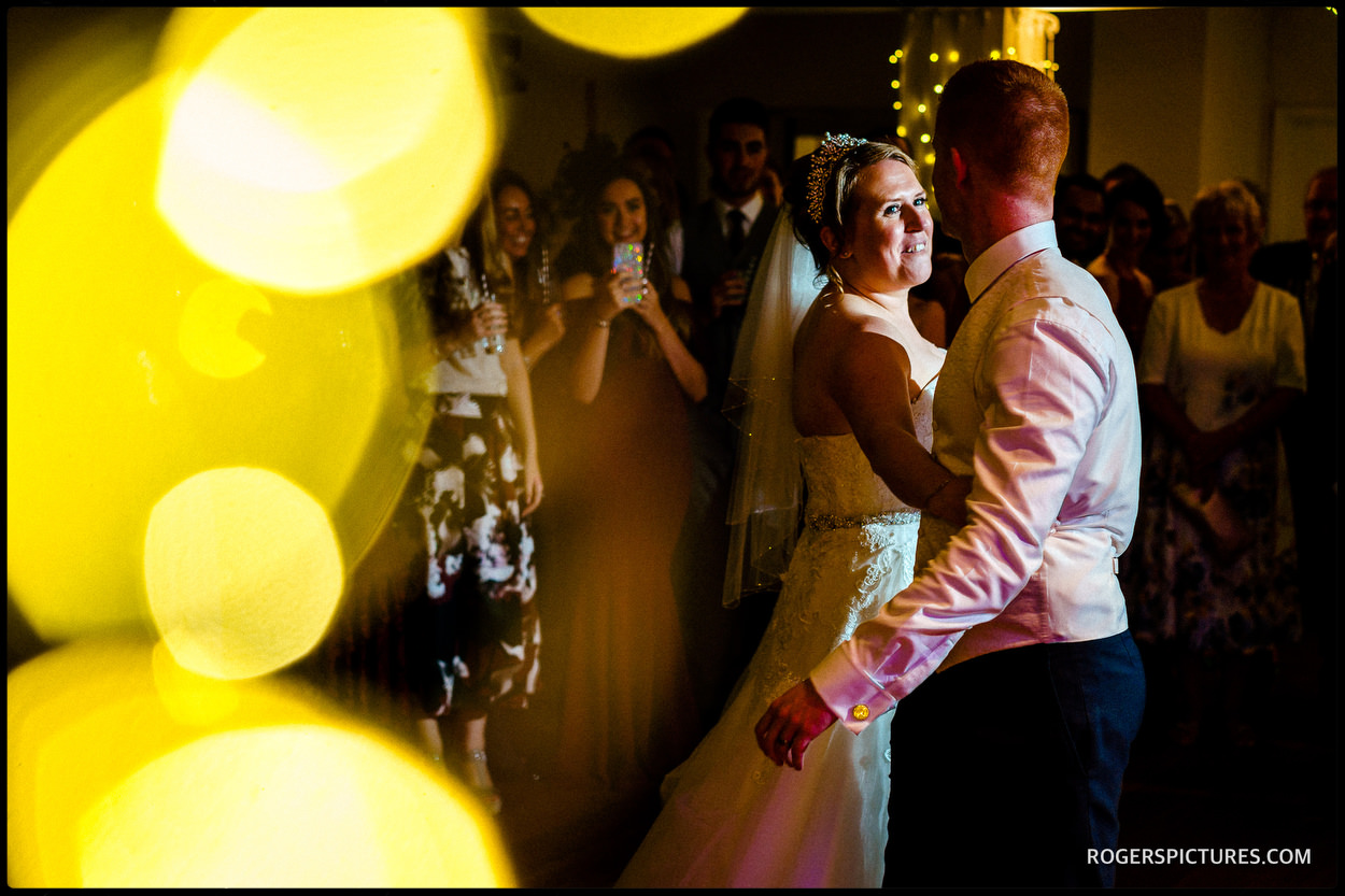 First dance at Stoke Place Hotel in Buckinghamshire