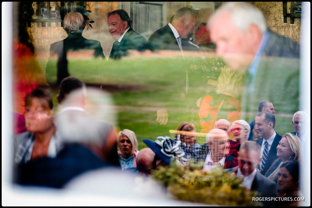 Reflections of wedding guests