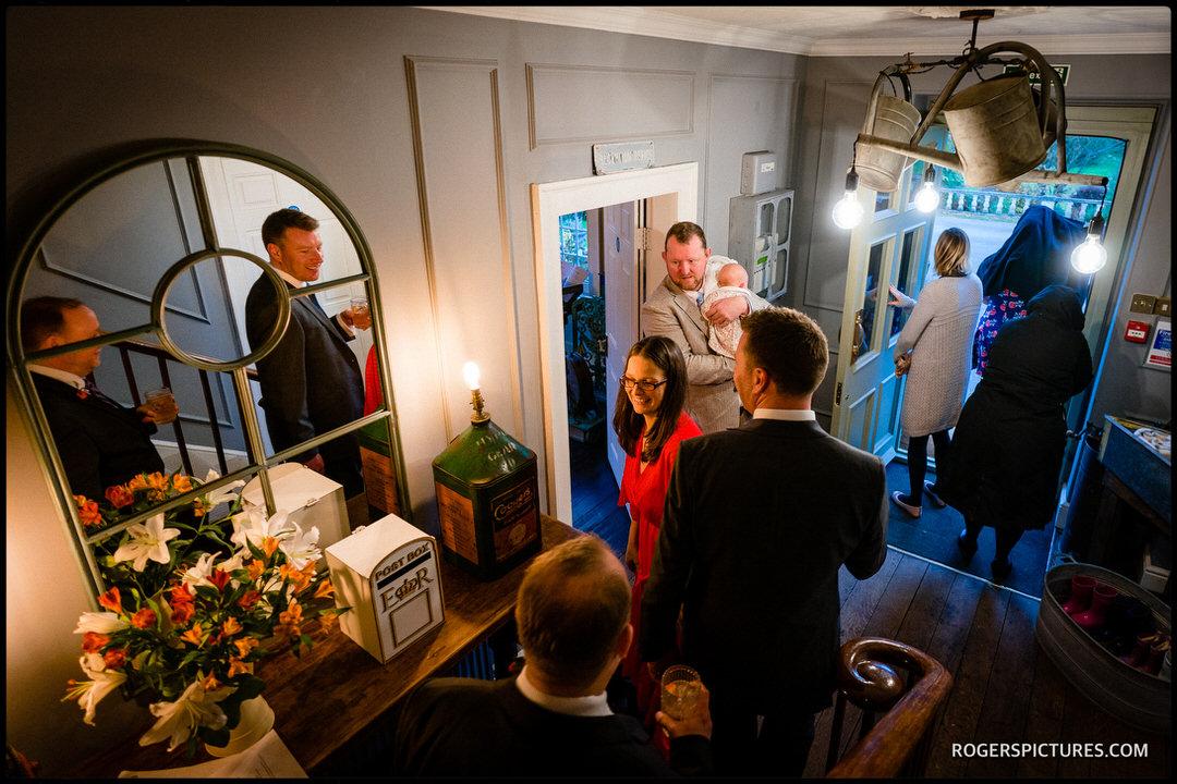 Wedding guests at Widbrook Grange
