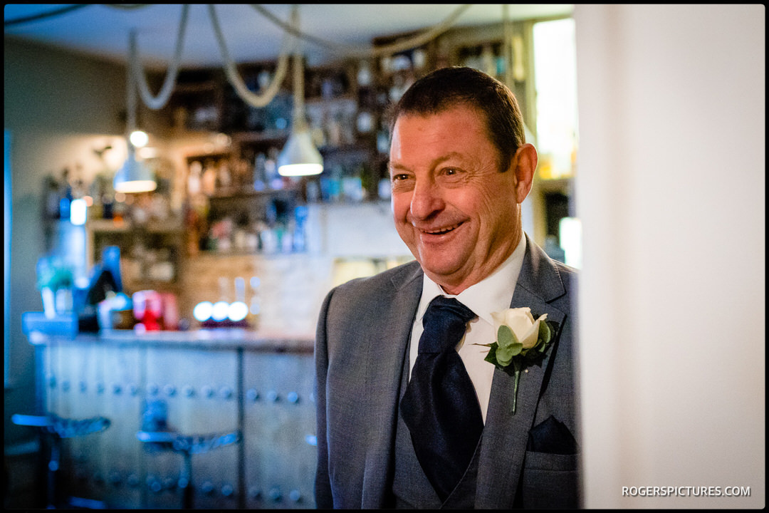 Father of the bride sees is daughter