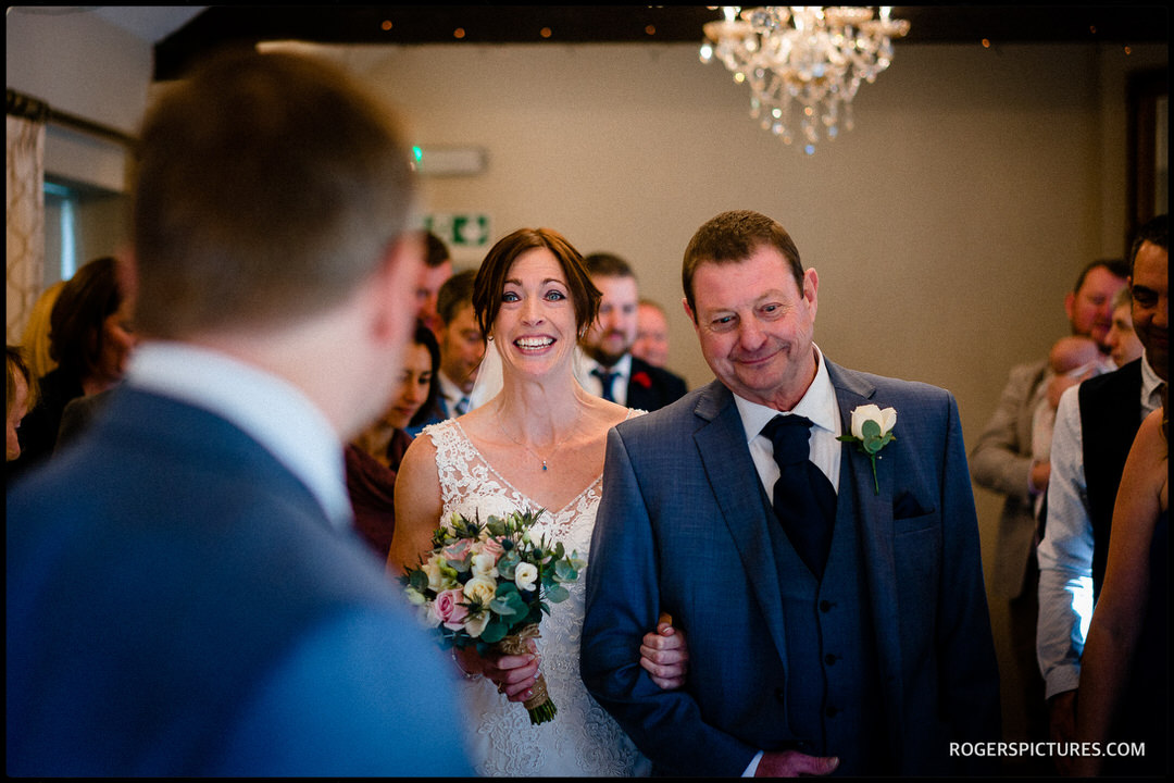 Widbrook Grange wedding ceremony