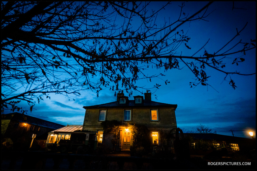 Widbrook Grange at dusk