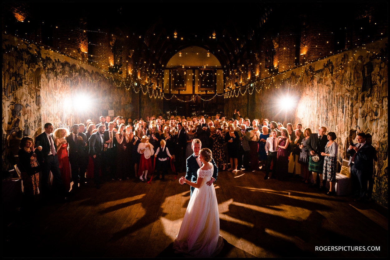 Christmas wedding at Hatfield House